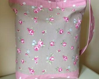Rosebud/Dotty Fabric Tote Bag