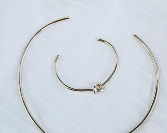 GAIA Love Knot Choker Necklace_Gold/Silver