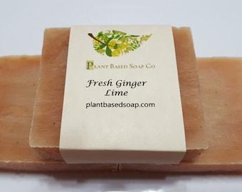 Fresh Ginger Lime Organic Soap Bar (Clearance)