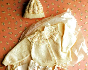 Cardigan and Hat. PDF. Knitting Pattern Only.