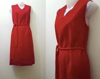 Vintage 1960s Dress // 60s Red Velvet Evening Dress