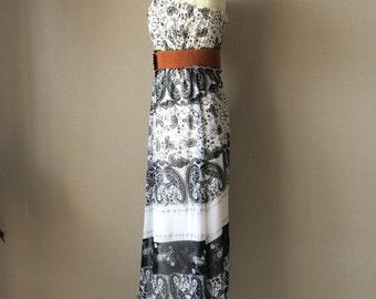 Vintage Maxi Dress, holiday dress, summer dress, date dress, evening dress,