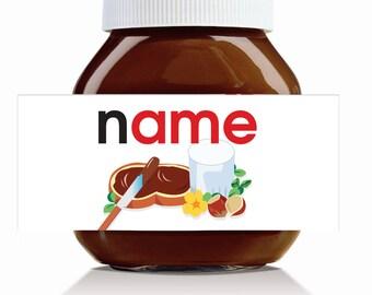 Personalised Original Name Theme for 750g Nutella Jar!