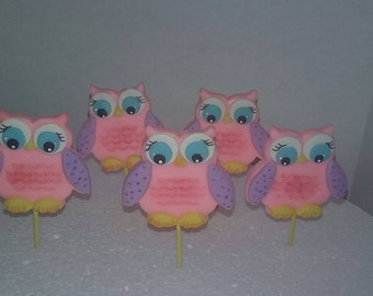12 Pcs Owls favors