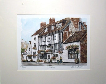 Tutbury Art Print by Glyn Martin Signed and numbered by the artist ENGLAND