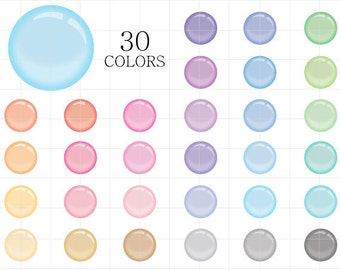 Bubble Clipart, Translucent Bubbles Clipart, Soap Bubbles Clip Art, Digital Bubbles, Colorful Bubbles Clipart, Transparent Bubbles Clipart