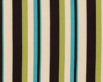 "Denyse Schmidt  ""Ansonia""  Wide Stripe  Mossy  FreeSpirit Cotton Fabric"