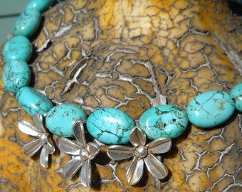 AuthenticTurquoise and Sterling silver necklace