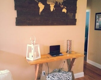 Rustic Cross-leg Table