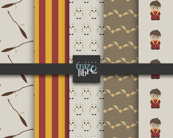 HARRY POTTER Digital Paper | digital Download | digital paper | digital clip art | Harry Potter clipart | Scrapbooking | Harry Potter png