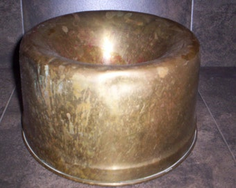 Antique Brass Spittoon Top