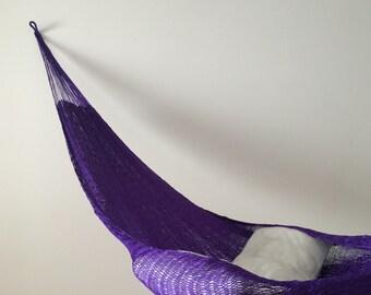 Hammock 2 nylon handmade from Mexico violet