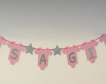 It's A Girl baby shower onesie banner