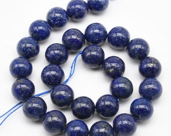 Lapis lazuli beads, 14mm round, big natural stone bead strands, blue lapis lazuli stone beads, A grade genuine loose gemstone beads, LPS2080