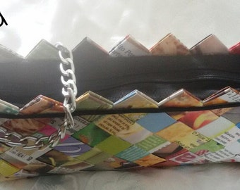 "Pochette ""Colours"" laminated paper cm 37 x 15"