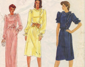 VINTAGE Very Easy Vogue 7717 PATTERN - 1980s Misses' Dress, size 12
