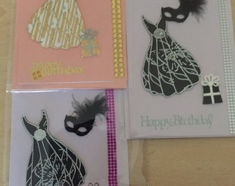 Dress birthday card