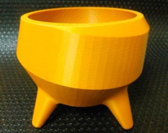 Golden Rod Flower Pot - 3D Printed