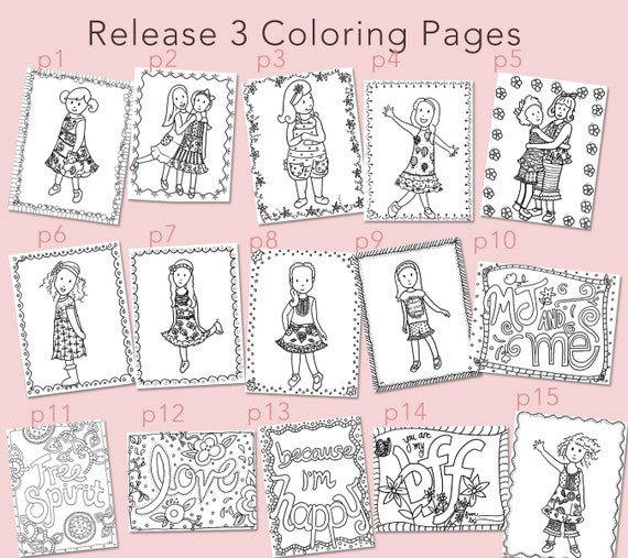 items similar to matilda jane theme coloring pages release 3 on etsy