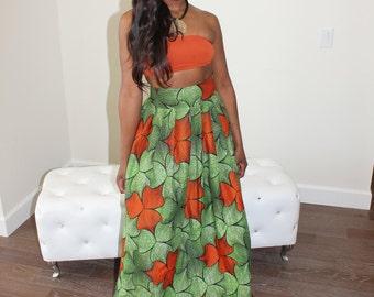 African Maxi Print. African Maxi. African Skirt
