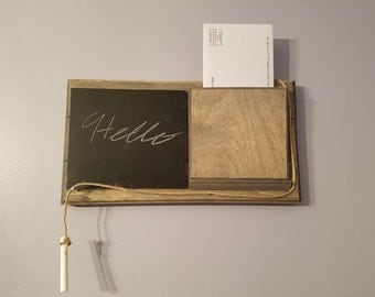 Rustic Chalkboard and Mail Holder