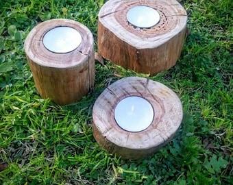 Rustic candle set