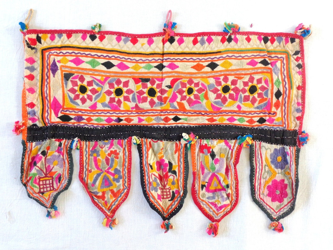 Vintage Bohemian Home decor Vintage Kutch by craftsofgujarat