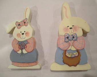 Bunny Pair with Matching Outfits