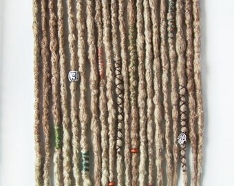 10 SE Dreads, old locks imitation, knootty dreads, with light ombre effect.