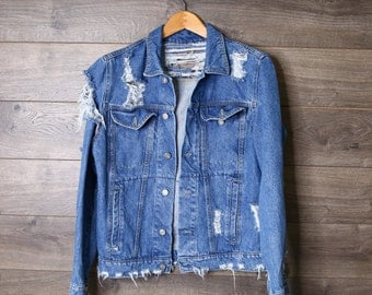American Vintage Distressed Jean Jacket