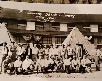 Vintage Pre-WWll Photo (E-Company 359th Infantry 1929)