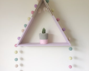 Pastel Felt Ball Garland -Pom Pom Garland-Nursery Decor- Wall Hanging