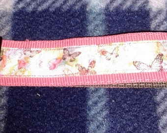Key Fob Butterflies on Pink