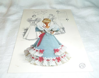 "Crochet Dress Pattern for 11.5"" Fashion Doll Annie's February 1994 Gibson Girl Collection"