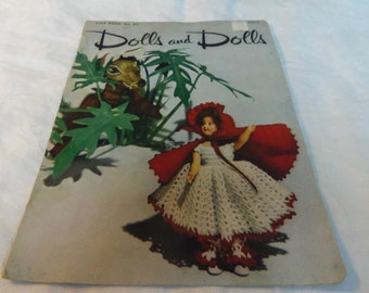 Dolls and Dolls Star Book No. 84 Crochet Patterns Doll Clothes 1951