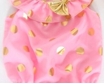 Pink gold polka dots