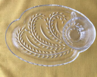 Vintage Homestead Snack Set by Federal Glass Co.