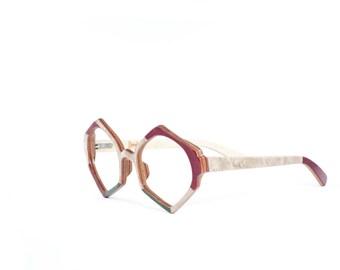 Wood eyeglasses frames