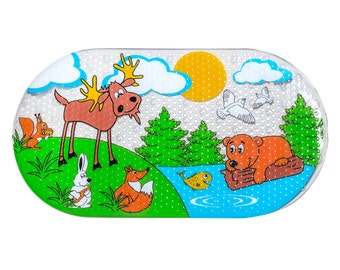 Melanov Non-slip Bathtub Baby Mats Toddler Bath Tube Mat Infant Bath Tub Rug Bathroom Shower Mat