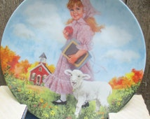 1985 Mary Had a Little Lamb Plate with Box and Certificate Plate No. 6859 C