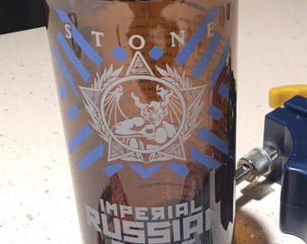 Stone Imperial Russian Stout Upcycled Drinking Glass