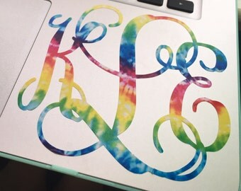 Tie Dye Monogram Decal