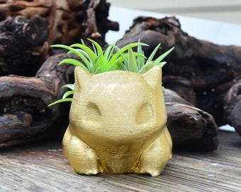 Handmade Bulbasaur Planter, Air Plant Holder, Bulbasaur Plant Holder, Air Plant Terrarium Kit, Gifts under 15, Pokemon Gifts!