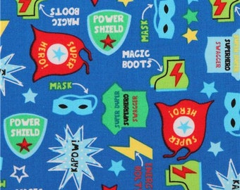 Blue Superhero Costume Fabric from Timeless Treasures