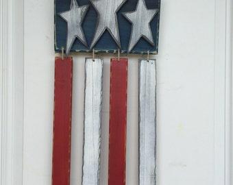 American flag door hanger/ sign