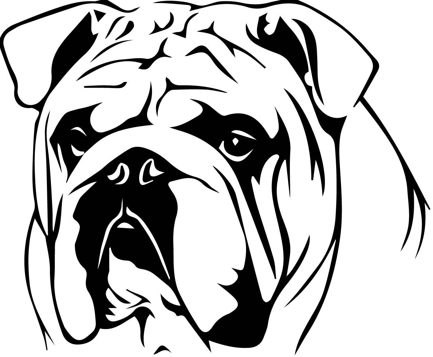 English Bulldog Decal By Dragonflyvinyls On Etsy