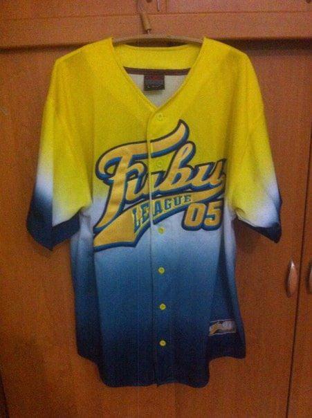 fubu t shirt vintage jersey of 90s hip hop clothing sewn