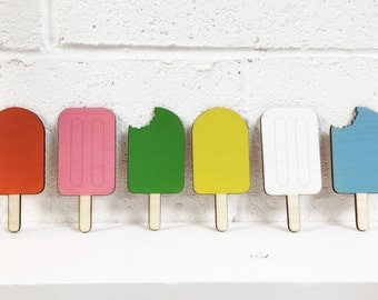 FREE SHIPPING - Childrens Ice Lollie Bunting - Kids room, Nurseries - Birthdays, Parties, Gifts