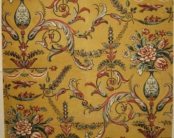 Antique Lovely  Late 19th C. French Neoclassic Wallpaper (8979)