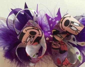 Minnie Mouse purple bow